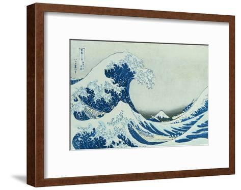 The Great Wave of Kanagawa, 1831-Katsushika Hokusai-Framed Art Print