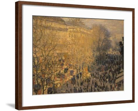 Boulevard Des Capucines, 1873-Claude Monet-Framed Art Print