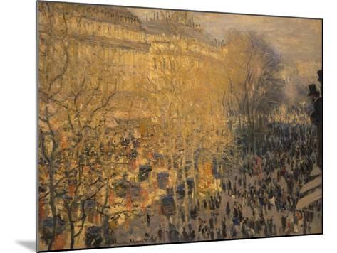 Boulevard Des Capucines, 1873-Claude Monet-Mounted Giclee Print