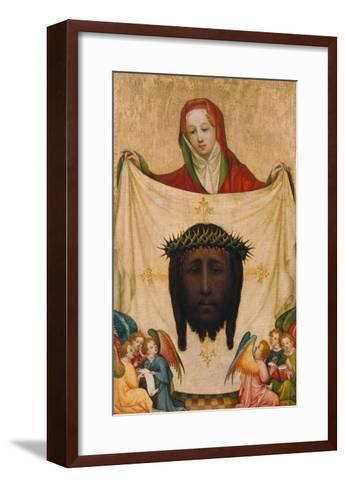 St. Veronica with the Shroud of Christ- Master of Saint Veronika-Framed Art Print