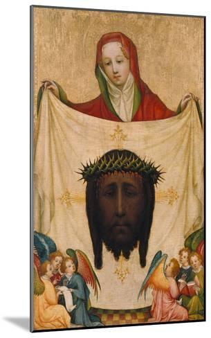 St. Veronica with the Shroud of Christ- Master of Saint Veronika-Mounted Giclee Print