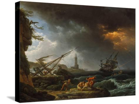 Storm at Sea-Claude Joseph Vernet-Stretched Canvas Print