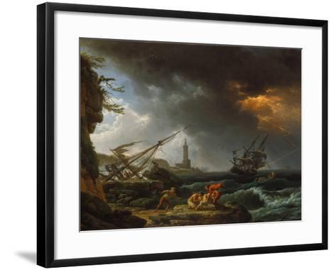 Storm at Sea-Claude Joseph Vernet-Framed Art Print