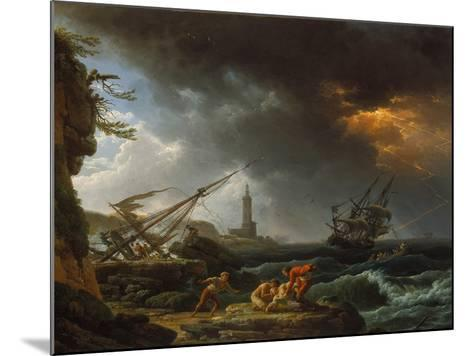 Storm at Sea-Claude Joseph Vernet-Mounted Giclee Print