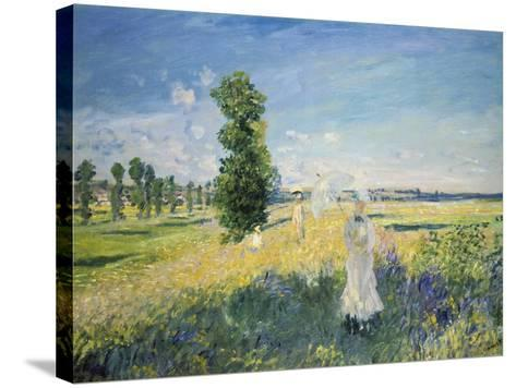 La Promenade (Argenteuil)-Claude Monet-Stretched Canvas Print