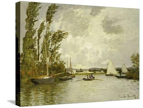 The Little Branch of the Seine-Claude Monet-Stretched Canvas Print