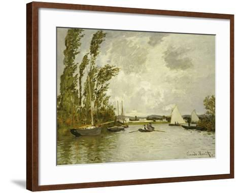 The Little Branch of the Seine-Claude Monet-Framed Art Print