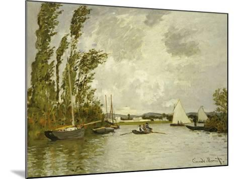 The Little Branch of the Seine-Claude Monet-Mounted Giclee Print