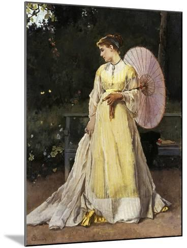 In the Countryside (Lady with Umbrella)-Alfred Emile L?opold Stevens-Mounted Giclee Print
