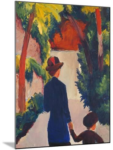 Mother and Child in the Park-Auguste Macke-Mounted Giclee Print