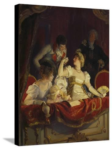 In the Loge, about 1900-Franz Simm-Stretched Canvas Print