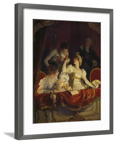 In the Loge, about 1900-Franz Simm-Framed Art Print