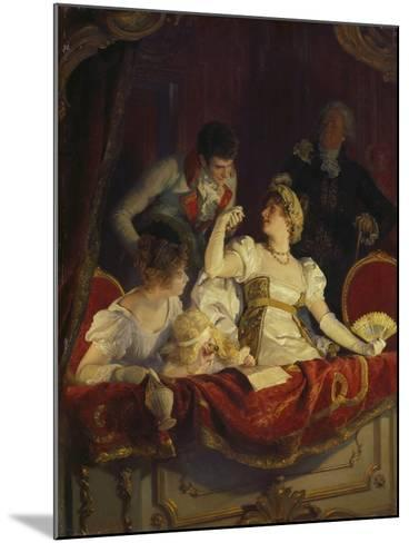 In the Loge, about 1900-Franz Simm-Mounted Giclee Print