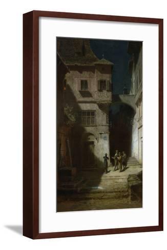 Die Serenade-Carl Spitzweg-Framed Art Print