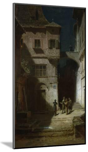 Die Serenade-Carl Spitzweg-Mounted Giclee Print