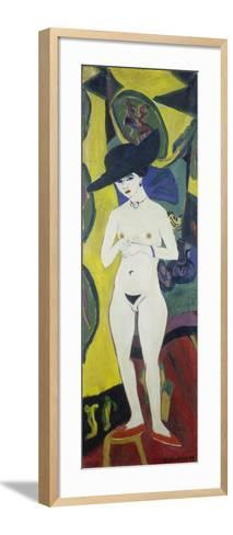Naked Woman with a Hat, about 1911-Ernst Ludwig Kirchner-Framed Art Print