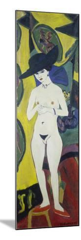 Naked Woman with a Hat, about 1911-Ernst Ludwig Kirchner-Mounted Giclee Print