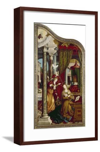 Wettenhausener Altar. Inner Left Panel: Annunciation, 1523-Martin Schaffner-Framed Art Print