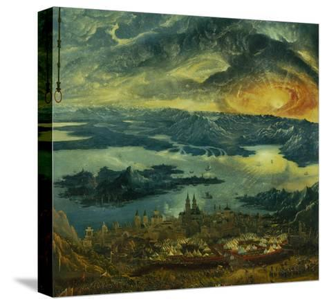 The Battle of Issus 333 V.Chr. (The Battle of Alexander), 1529. Camp of Tents-Albrecht Altdorfer-Stretched Canvas Print