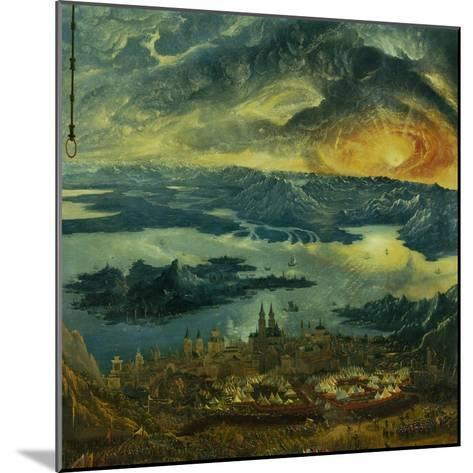 The Battle of Issus 333 V.Chr. (The Battle of Alexander), 1529. Camp of Tents-Albrecht Altdorfer-Mounted Giclee Print