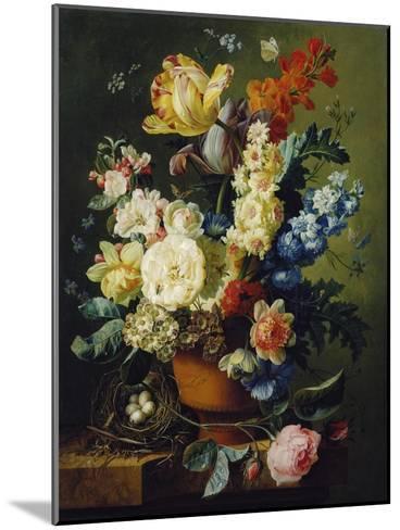 Flower Still Life with Bird's Nest, 1785-Paul Theodor van Brussel-Mounted Giclee Print