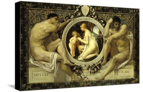 Idyll, 1884-Gustav Klimt-Stretched Canvas Print