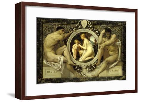 Idyll, 1884-Gustav Klimt-Framed Art Print