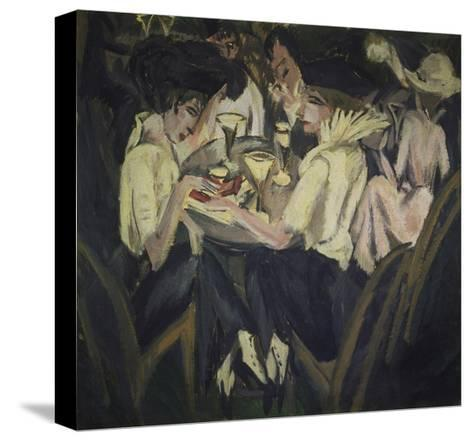 The Garden Cafe, 1914-Ernst Ludwig Kirchner-Stretched Canvas Print