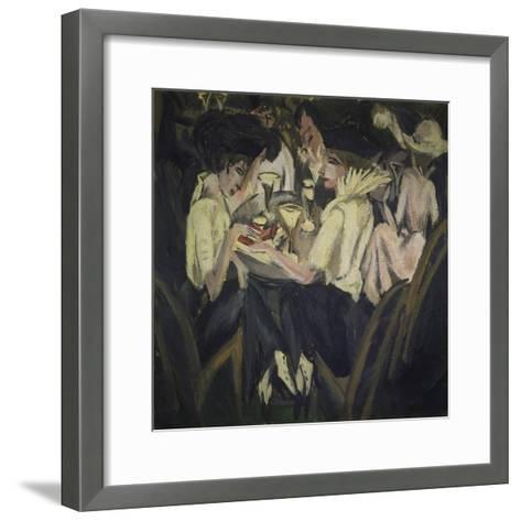 The Garden Cafe, 1914-Ernst Ludwig Kirchner-Framed Art Print
