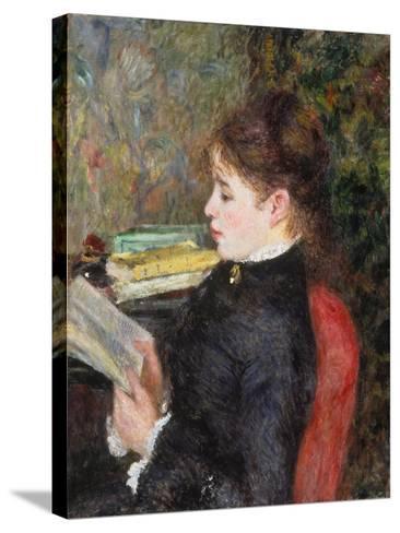 Woman Reading-Pierre-Auguste Renoir-Stretched Canvas Print