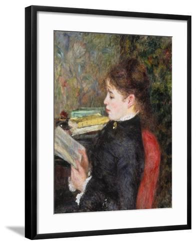 Woman Reading-Pierre-Auguste Renoir-Framed Art Print