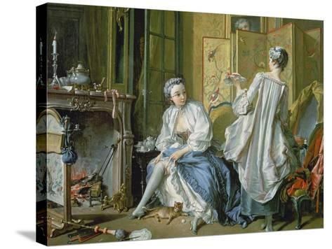 La Toilette, 1742-Francois Boucher-Stretched Canvas Print