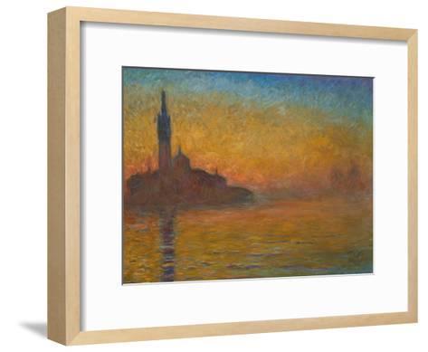 Venice by Twilight, 1908-Claude Monet-Framed Art Print