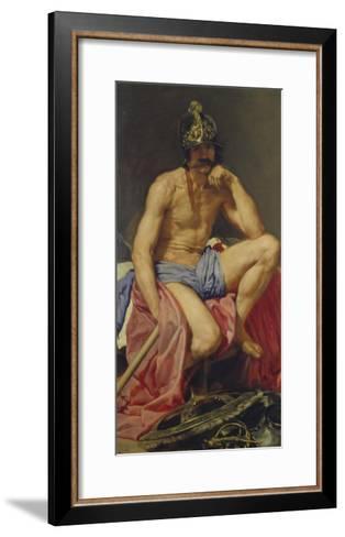Der Gott Mars, 1640(?)-Diego Velazquez-Framed Art Print