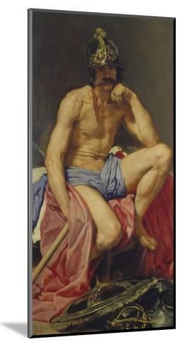 Der Gott Mars, 1640(?)-Diego Velazquez-Mounted Giclee Print