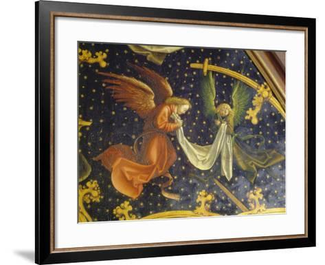 Basilikatafel S.Maria Maggiore. Detail Der Re.Tafel: Zwei Engel. Nadelholz-Hans Holbein the Younger-Framed Art Print