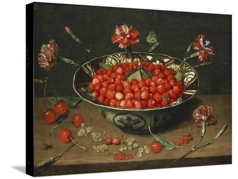 Strawberries in a Bowl, about 1630-Jacob Van Hulsdonck-Stretched Canvas Print
