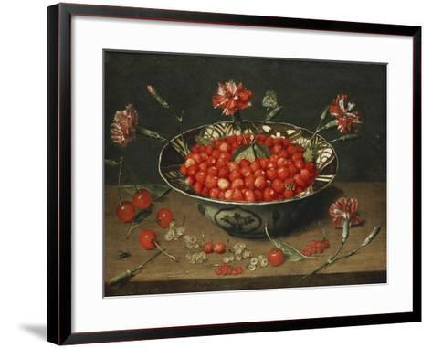 Strawberries in a Bowl, about 1630-Jacob Van Hulsdonck-Framed Art Print