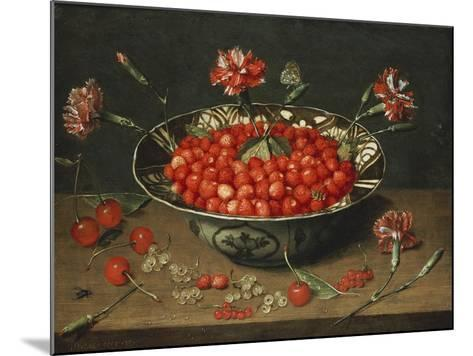 Strawberries in a Bowl, about 1630-Jacob Van Hulsdonck-Mounted Giclee Print