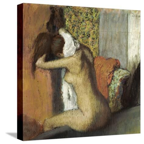 After the Bath, Woman Drying Her Neck, 1898-Edgar Degas-Stretched Canvas Print