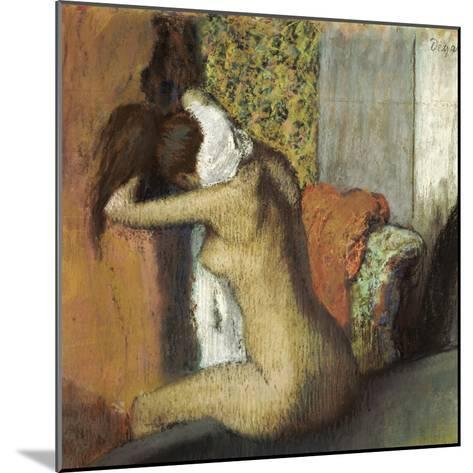 After the Bath, Woman Drying Her Neck, 1898-Edgar Degas-Mounted Giclee Print