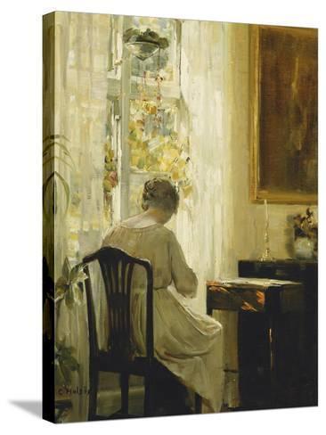 Am Wohnzimmerfenster-Carl Holsoe-Stretched Canvas Print