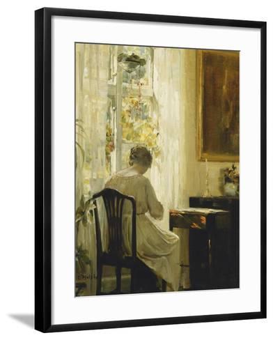 Am Wohnzimmerfenster-Carl Holsoe-Framed Art Print