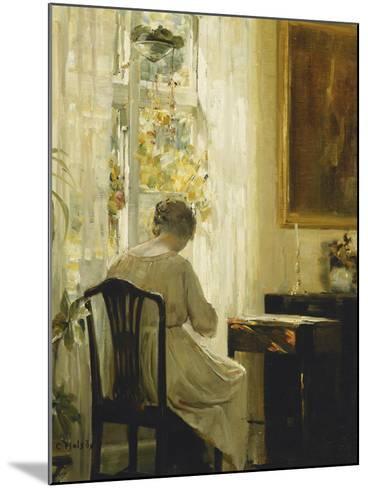 Am Wohnzimmerfenster-Carl Holsoe-Mounted Giclee Print