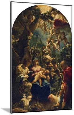 The Holy Family with Angels and John the Baptist, about 1599-Adam Elsheimer-Mounted Giclee Print