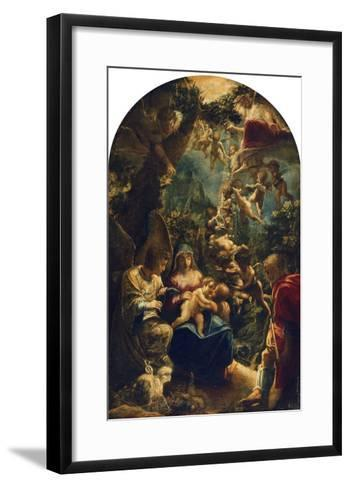 The Holy Family with Angels and John the Baptist, about 1599-Adam Elsheimer-Framed Art Print