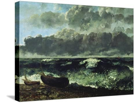 The Stormy Sea or the Wave, 1870-Gustave Courbet-Stretched Canvas Print