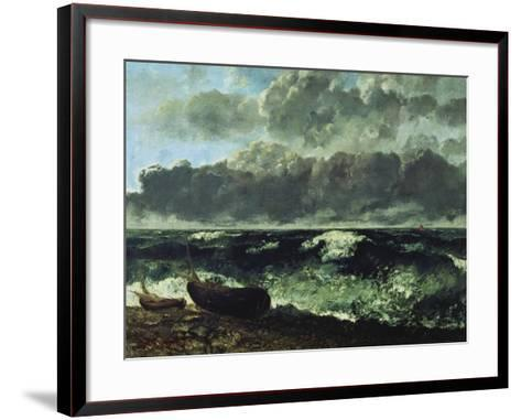The Stormy Sea or the Wave, 1870-Gustave Courbet-Framed Art Print