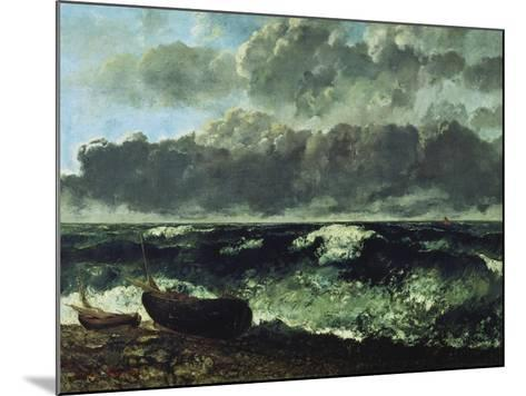 The Stormy Sea or the Wave, 1870-Gustave Courbet-Mounted Giclee Print