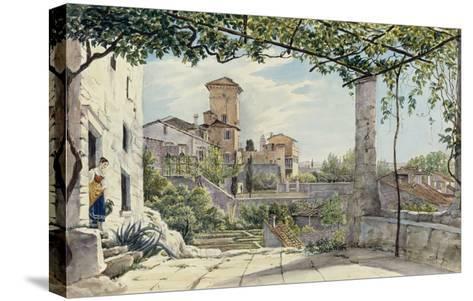Villa Malta, Rome, about 1840-Franz Ludwig Catel-Stretched Canvas Print